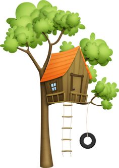 Cartoon treehouse PNG and Clipart House Clipart, 2 Clipart, Tree Clipart, Cartoon House, Cool Tree Houses, Art N Craft, Marianne Design, Parks And Recreation, Pics Art