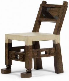 """Chaise Africaine"" oak chair, Pierre Legrain, 1924"