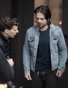 Jesse Eisenberg and Sebastian