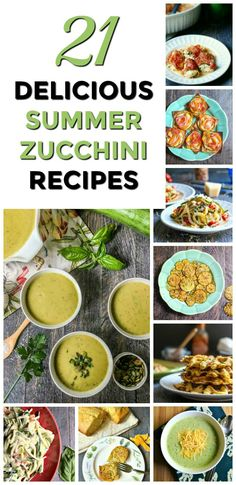 21 Delicious Summer Zucchini Recipes - easy, healthy and delicious zucchini recipes perfect for summer. Everything from soup to chips to waffles! Easy Zucchini Recipes, Healthy Vegetable Recipes, Vegan Recipes Easy, Healthy Cooking, Diet Recipes, Healthy Snacks, Healthy Eating, Amazing Recipes, Delicious Recipes