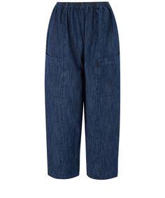 Eskander Blue Seamed Japanese Linen Trousers   Womenswear   Liberty.co.uk