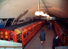 A Glasgow subway station in the Glasgow Subway, Underground Tube, Corporate Identity Design, Glasgow Scotland, Rolling Stock, Transportation, History, Architecture, City