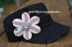 Baseball Mom Rhinestone Cadet Hat by SportzCrazyMama on Etsy, $30.00