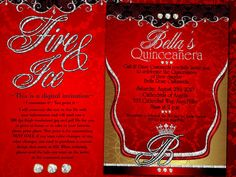 Fire and Ice Invitation Printable or Printed with FREE PROM