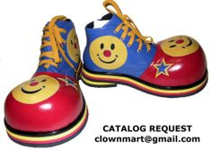 Professional Clown Shoes Costume Supplies Smiley -Model 23- by ClownMart
