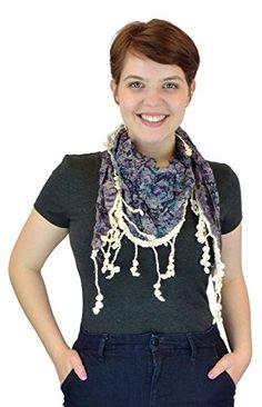 Belle Donne - Women's Floral Cluster Pattern 100% Viscose Laced Scarf - Purple Belle Donne http://www.amazon.com/dp/B014HKG1JW/ref=cm_sw_r_pi_dp_Evj-vb0K64JJ5