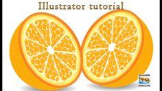 how to make realistic #orange illustration in illustrator Hindi tutorial