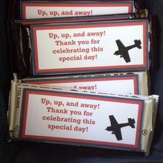 Airplane baby shower. Lots of free printables! #Airplane #Babyshower
