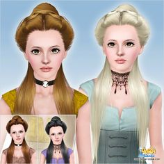 Duchess hairstyle ID 740 by Peggy Zone for Sims 3 - Sims Hairs - http://simshairs.com/duchess-hairstyle-id-740-by-peggy-zone/