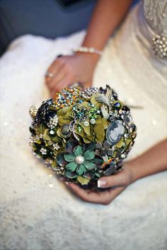 brooch bouquet (a favourite repin of VIP Fashion Australia www.vipfashionaus... - Specialising in unique fashion, exclusive fashion, online shopping sites for clothes, online shopping of clothes, international clothing store, international clothes shop, cute dresses for cheap, trendy clothing stores, luxury purses )