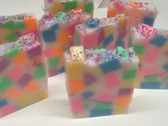 Birthday Cake glycerin soap melt and pour by cltcrafts on Etsy, $1.00