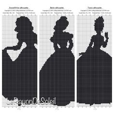 Cross stitch pattern Disney princesses by LeRayonDeSoleil on Etsy