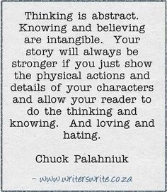 Physical actions of your character.
