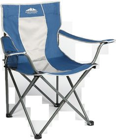Outdoor Furniture Patio Chair Camping Lawn Folding Chairs Portable Beach Blue Wh #NorthwestTerritory