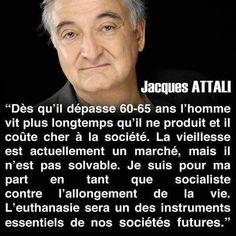 Les vieux ne votent pas socialiste Donc, on les élimine. Hop. Régler les problèmes, Méthode Attali - Hollande #csoj pic.twitter.com/bHyzCiIEwp