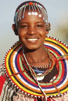 Joven Massai, Africana.
