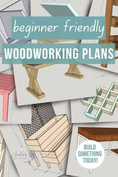 Simple step-by-step woodworking plans perfect for beginners. Plans have accompanying picture tutorials, and some have videos. Build gifts, furniture, and more! #woodworkingplans #beginnerwoodworking #AnikasDIYLife Wood Projects For Beginners, Wood Working For Beginners, Diy Wood Projects, Furniture Projects, Furniture Plans, Diy Furniture, Kreg Jig Projects, Beginner Woodworking Projects, Woodworking Furniture