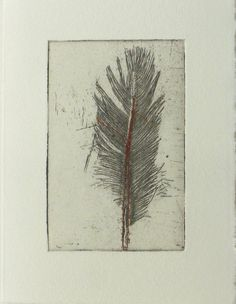 Original Etching of a featherhand pulled by Fleurografie on Etsy, €12.00