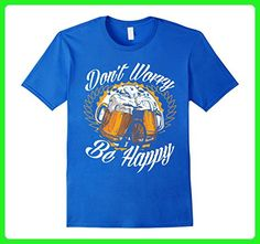 Mens I Love Craft Beers - Don't Worry Be Hoppy! Medium Royal Blue - Food and drink shirts (*Amazon Partner-Link)