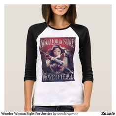 Wonder Woman Fight For Justice T-Shirt. Bright and awesome Wonder Women from DC Comics. Unique superheroine designs to personalize as a gift for yourself, friends and families. Perfect unique gifts for your all birthdays needs. Gal Gadot Wonder Woman, Wonder Woman Movie, Fight For Justice, Warriors T Shirt, Justice League Wonder Woman, T Shirt Costumes, Woman Costumes, African Women, Shirt Shop