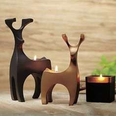 Endearing Tealight Holder Pair, Ebony Oud Votive Holder #PartyLite #candles