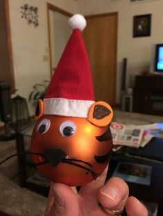Boy Scout Tiger Cub ornaments our den is making