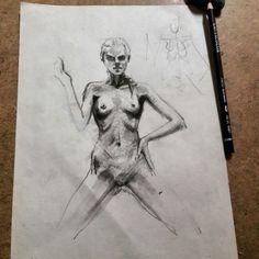 Sketch art drawing nude