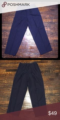 """VINTAGE Koret Cotton/Tencel High-Waisted Pants 55% Cotton / 35% Tencel Blend. Good vintage condition. Elastic waistband. Side pockets. Matching oversized button down shirt/ short sleeve jacket available in separate listing. Vintage sizing so please make sure approximate measurements below work for you.  Approximate Measurements (unstretched): Waist- 28"""" Rise- 13.5"""" Hips- 45"""" Inseam- 27"""" Koret Pants Straight Leg"""