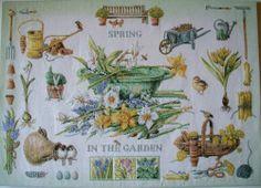 gorgeous compl. cross stitch Marjolein Bastin and Lanarte SPRING IN THE GARDEN