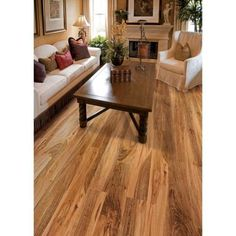 Hampton Bay Maple Grove Natural 12 mm Thick x 6-3/16 in. Wide x 50 ...