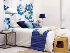 diy bedroom decorating with fabric, beds