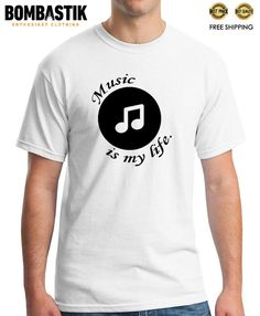 R 0288 MUSIC is My LIFE T-shirt Tee Camiseta Funny Top Alternative Hipster  Party 8dcf19c52c
