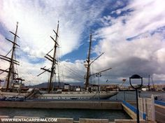 Sailer in the Port of Malaga