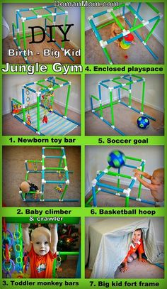 DIY Pvc Jungle Gyms