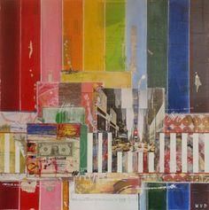 My Way  90 x 90 cm  Mixed Media  www.woutervandonselaar.nl