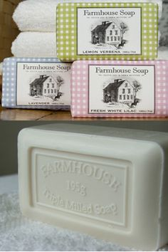 Farmhouse Milled Soaps by Sweet Grass Farm