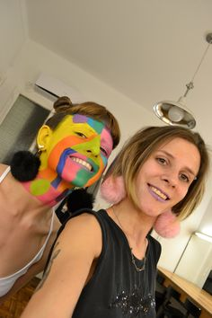 psychedelic face paint