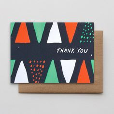 Thank You Cones and Dots via Hammerpress seen on paper crave