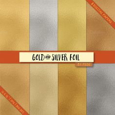 Gold and silver foil by Patrycja Dolata on @creativemarket