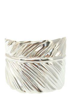 Silver Palm Leaf Bangle