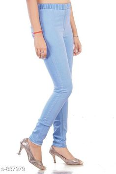Checkout this latest Jeggings Product Name: *Plus Size Solid Jegging* Fabric: Denim Waist Size:  L - Waist - 30 in Hip - 36 in Length - 41 in XL - Waist - 32 in Hip - 38 in Length - 41 in XXL - Waist - 36 in Hip - 42 in Length - 41 in XXXL - Waist - 38 in Hip - 44 in Length - 41 in 4XL - Waist - 40 in Hip - 46 in Length - 41 in 5XL - Waist - 42 in Hip - 48 in Length - 41 in 6XL - Waist - 44 in Hip - 50 in Length - 41 in 7XL - Waist - 46 in Hip - 52 in Length - 41 in 8xl - Waist - 48 in Hip - 54 in Length - 41 in 9xl - Waist- 50 in Hip - 56 in Length: Up To 41 in Type: Stitched Description: It Has 1 Piece Of Women's Jeggins Pattern: Solid Country of Origin: India Easy Returns Available In Case Of Any Issue   Catalog Rating: ★4.3 (5982)  Catalog Name: Free Mask Plus Size Solid Denim Jeggings Vol 2 CatalogID_96809 C79-SC1033 Code: 955-837979-4641