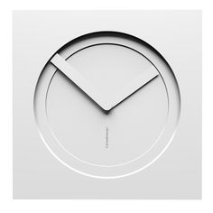 10-022-Q01C01B01O01M01 Wall clock KAM  - Do you like this color scheme? #Totalwhite. Have fun creating your own #wallclock