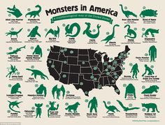 Monsters in America http://mapsontheweb.zoom-maps.com/image/109114993735