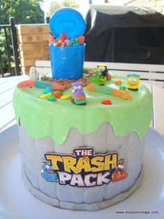 Restyled Vintage: A Trash Pack Cake for My Baby Boy
