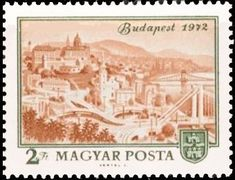 View of Budapest, 1972 Budapest Hungary, Postage Stamps, Vintage World Maps, Travel, Hungary, Seals, Viajes, Trips, Stamps