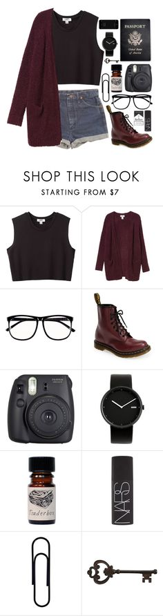 """Outfit 84"" by holass ❤ liked on Polyvore featuring Nomia, Wrangler, Monki, H&M, Dr. Martens, Fuji, Passport, Alessi, NARS Cosmetics and Pier 1 Imports"