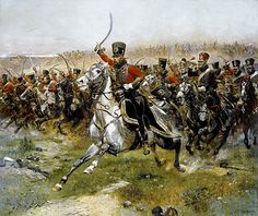 [Napoleonic Wars] The French Hussar at the battle of Friedland by Edouard Detaille Military Art, Military History, Military Terms, Edouard Detaille, Art Occidental, Art Gallery, Google Art Project, Battle Of Waterloo, Waterloo 1815