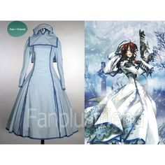 Trinity Blood Cosplay, Sister Esther Blanchett Costume ($150) ❤ liked on Polyvore featuring costumes, cosplay halloween costumes, role play costumes, blue costumes, cosplay costumes and blue halloween costumes