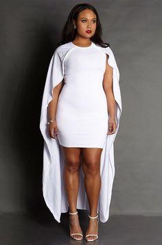 white cape dress plus size - Google Search | halloween | Pinterest ...