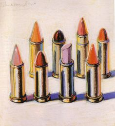 wayne thiebaud - lipsticks